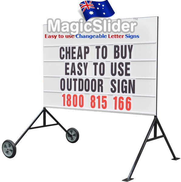 Sliding letter outdoor sign system for school business sport events advertising and more